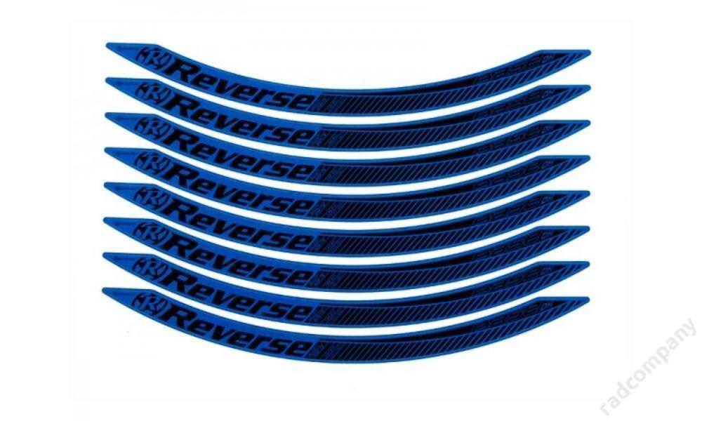 Reverse stickerkit, dark-blue, for Base DH 650B rim