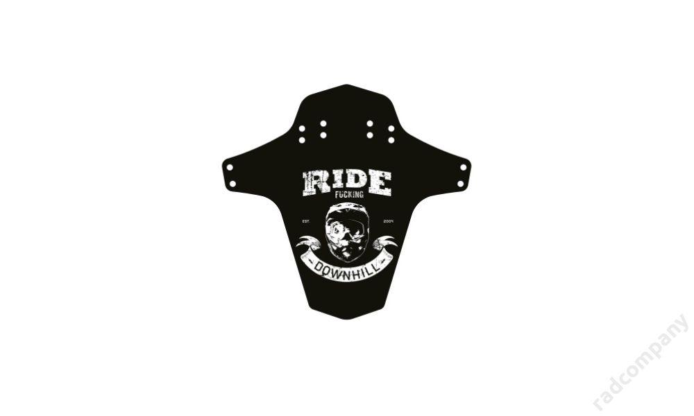 REVERSE Sárvédő - Ride Fucking Downhill, FEKETE/FEHÉR